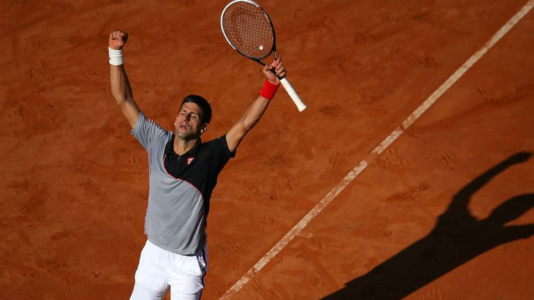 Novak Djokovic: Held off Milos Raonic to reach his fifth Rome final