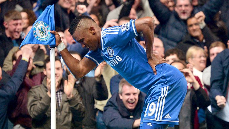 Samuel Eto'o made light of Jose Mourinho's jibes about his age with a memorable celebration