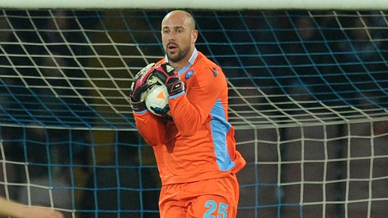 Pepe Reina: The goalkeeper is too pricey for Napoli to complete a permanent move