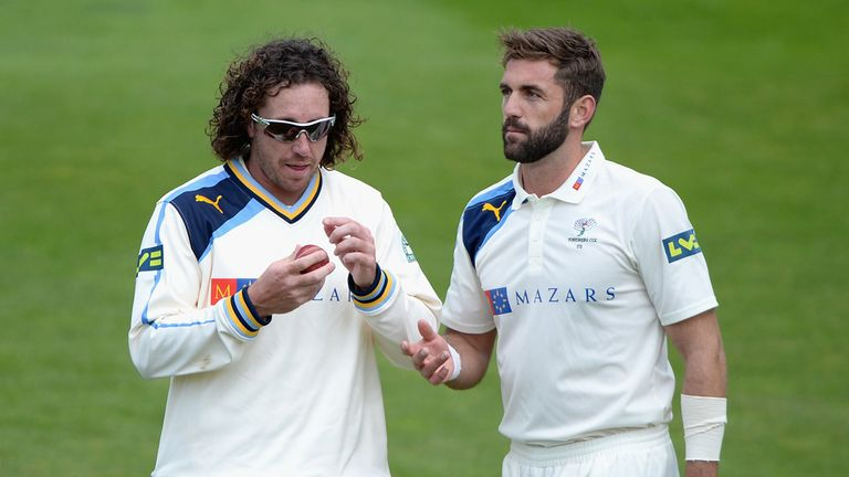 Ryan Sidebottom (l): Yorkshire waiting on bowler's injury