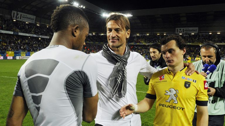 Sochaux players after their 3-0 defeat to Evian
