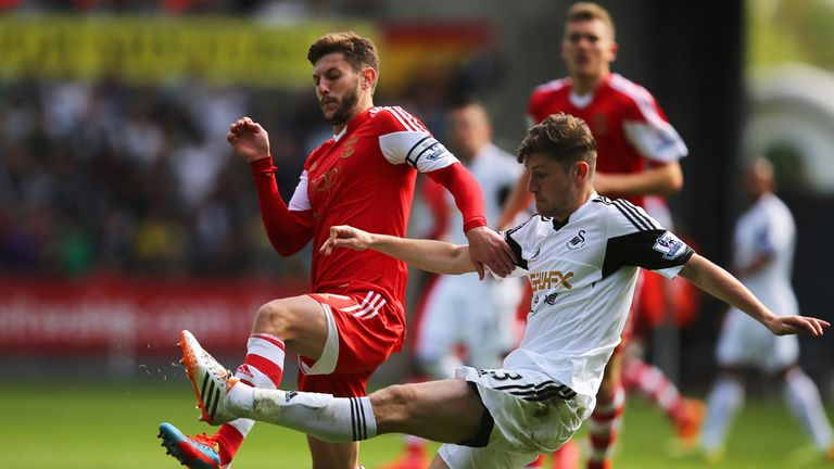 Adam Lallana: Clashes with Ben Davies at Liberty Stadium
