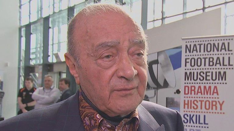 Mohamed Al Fayed: The former Fulham owner has hit back at criticism from the club's current manager Felix Magath.