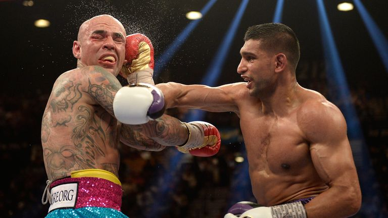 Amir Khan (R): Was back on top form against Luis Collazo