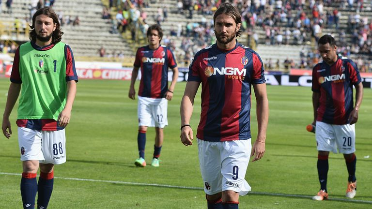 Bologna: Dejected after defeat to Catania and relegation