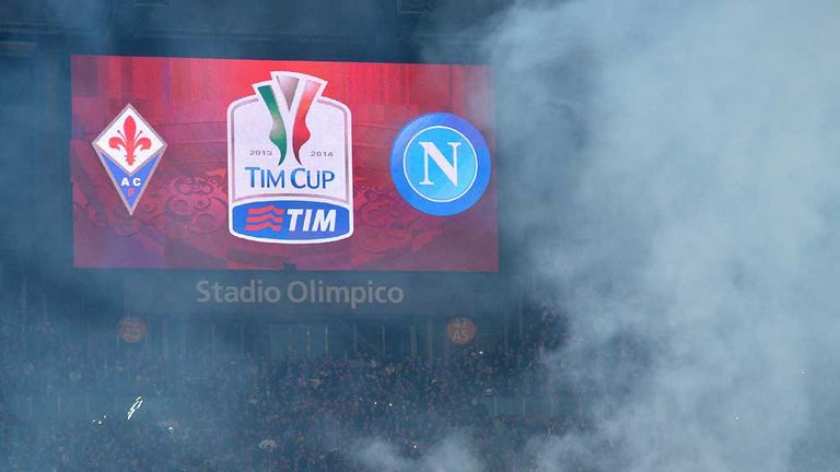 Napoli's win over Fiorentina was marred by violence beforehand