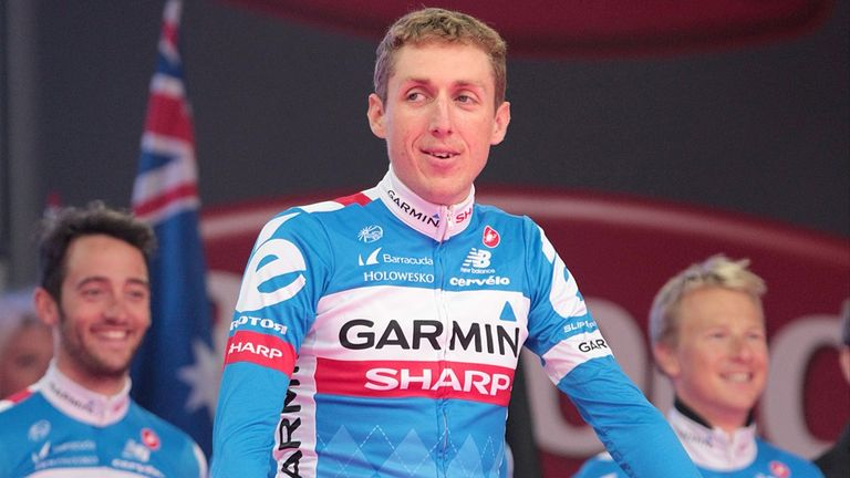 Dan Martin had been all smiles at the Giro d'Italia team presentation on Thursday