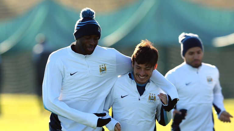 David Silva (c): Says team-mate Yaya Toure has always seemed happy