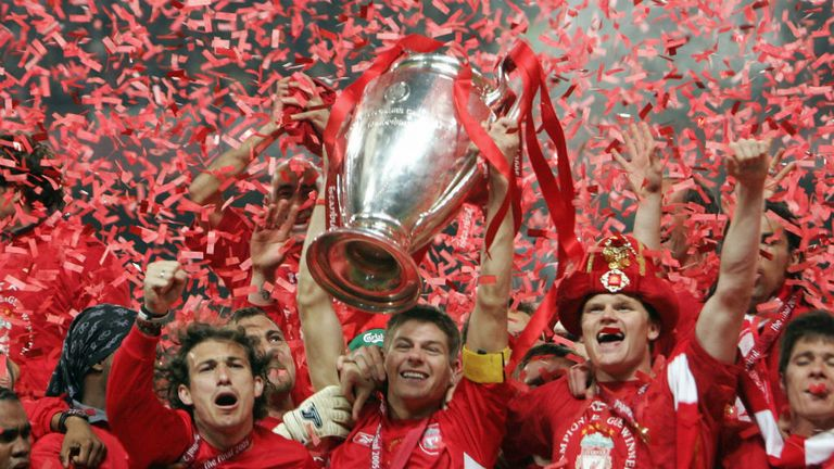 Liverpool staged the most dramatic of comebacks to prevail in the 2005 final in Istanbul