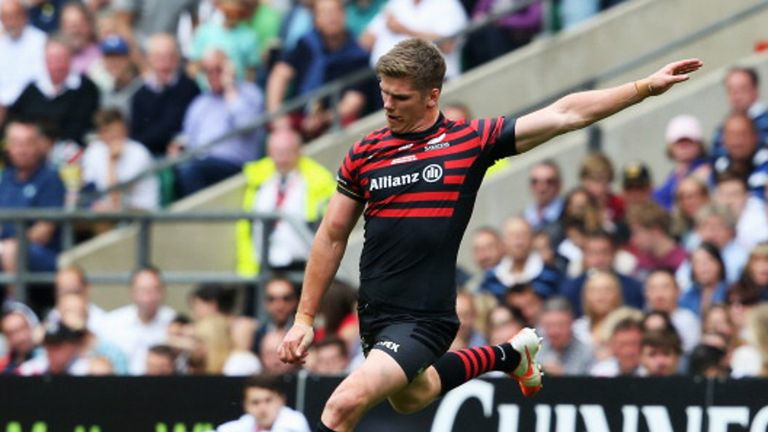 Owen Farrell: had a score controversially chalked off