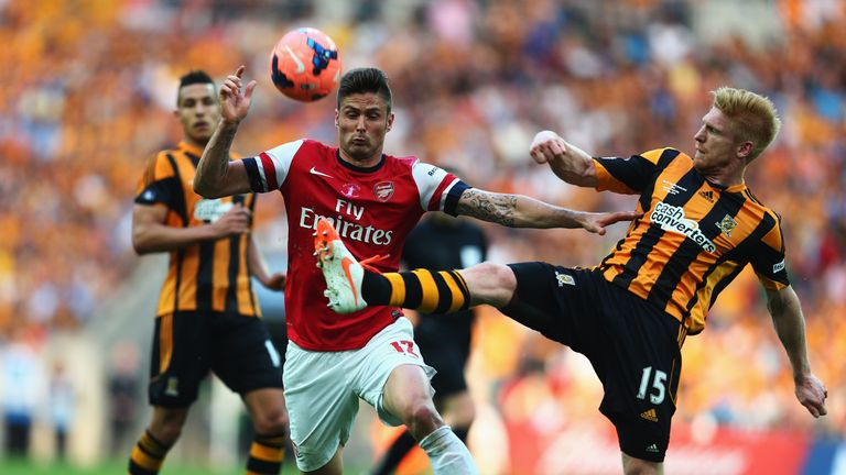 Paul McShane: Hull City defender was unable to deny Arsenal at Wembley