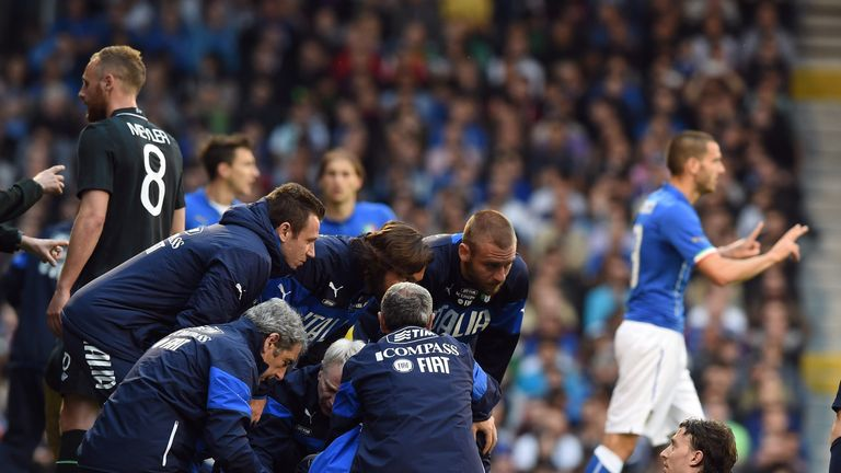 Riccardo Montolivo: Midfielder carried off in Italy's draw with Ireland