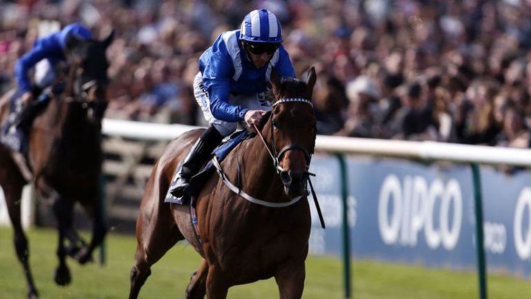 Taghrooda winning the Fielden Stakes at Newmarket