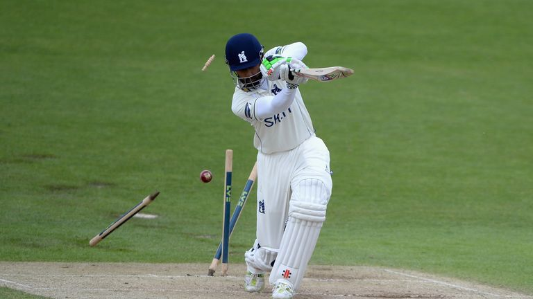 Varun Chopra: Warwickshire opener had his stumps re-arranged by Jack Brooks