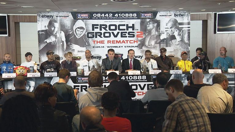 The undercard at the Wembley press conference