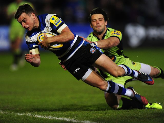 George Ford goes in for a Bath try