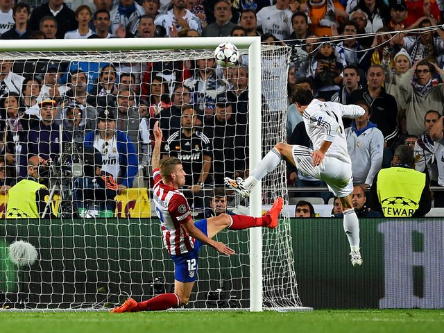 Gareth Bale's header put Real Madrid 2-1 up in extra-time