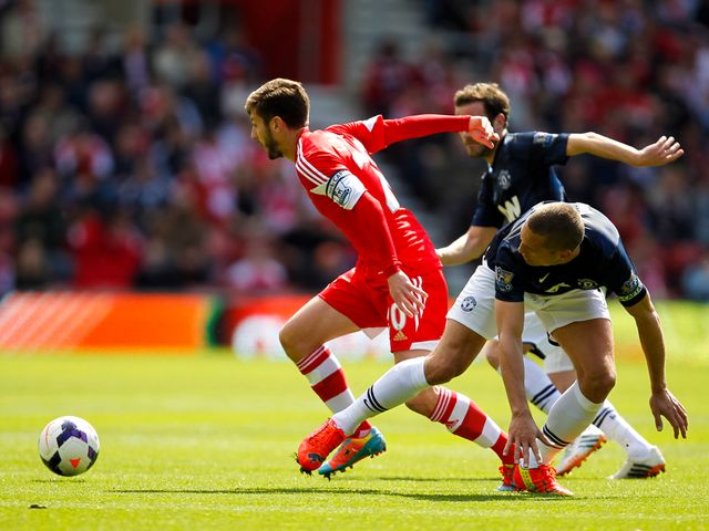 Adam Lallana in action for Southampton