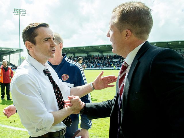Danny Lennon and Gary Locke say hello