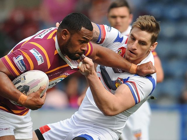 Ukuma Ta'ai (l): Two tries for Huddersfield