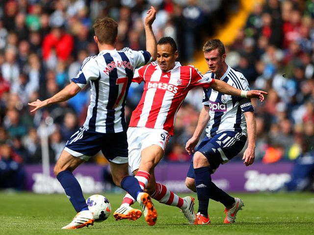 Peter Odemwingie in action for Stoke