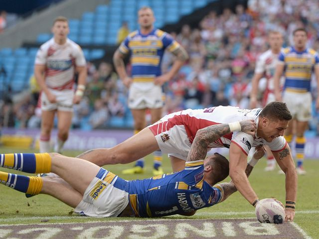Gelling: Hat-trick for the Wigan Warriors