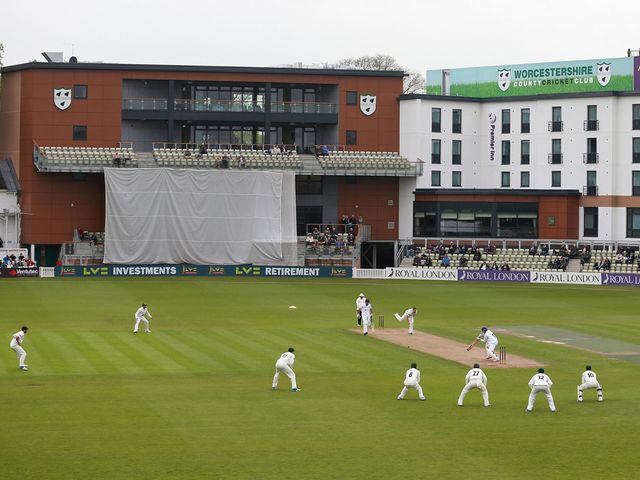 Rain washed out play at New Road on Friday night