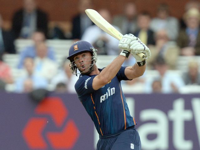 Mark Pettini hits a six during his quickfire innings at Lord's