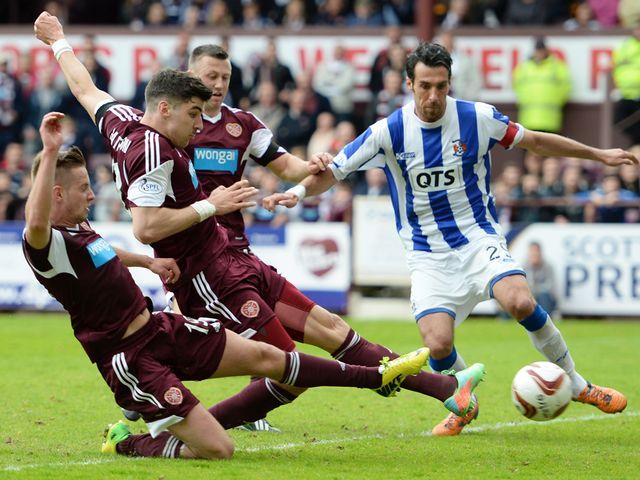 Callum Paterson scores Hearts' fifth goal against Kilmarnock