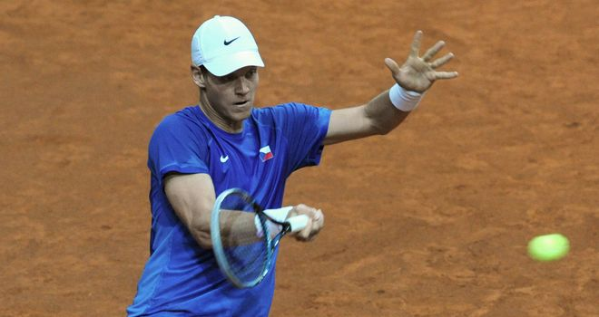 Toma Berdych: Thrashed Victor Hanescu to move into Sunday's final