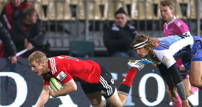 Johnny McNicholl: Crossed for one of three Crusaders tries