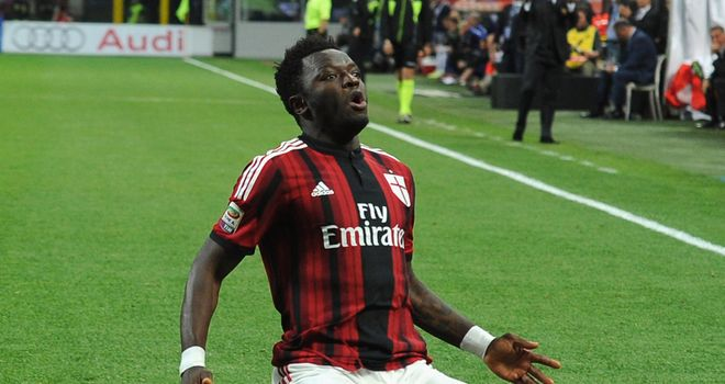 Sulley Muntari scored in the second minute for Milan