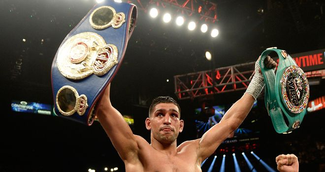 Amir Khan after his win over Luis Collazo