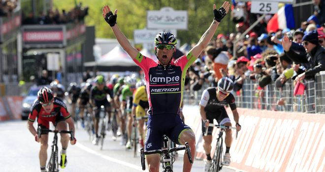 Diego Ulissi: Strong finish handed him his second Giro stage success