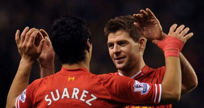 Steven Gerrard: Liverpool captain hailed Luis Suarez after three more awards
