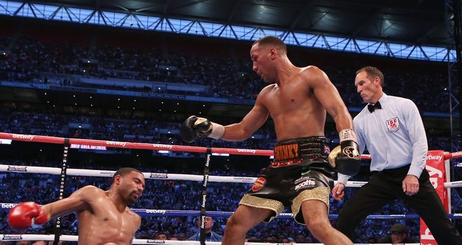 James DeGale (R): Set for British superfight next after impressive win