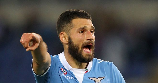 Antonio Candreva of Lazio in action on Sunday