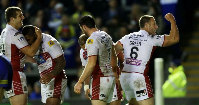 Wigan: Blake Green (right) out for three months with torn bicep