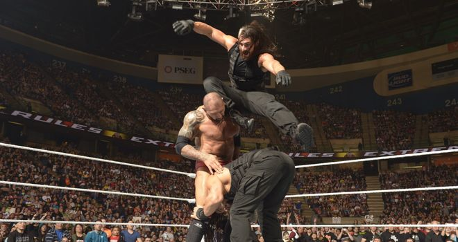 Batista was The Shield's victim at Extreme Rules