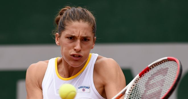 Andrea Petkovic: Through to the semi-finals after beating Stefanie Voegele