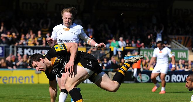 Charlie Hayter: Scored Wasps' sixth try