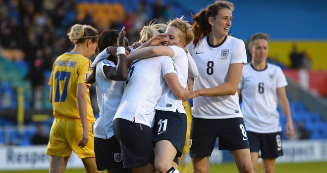 Natasha Dowie: Brace at Greenhous Meadow keeps England's women on track