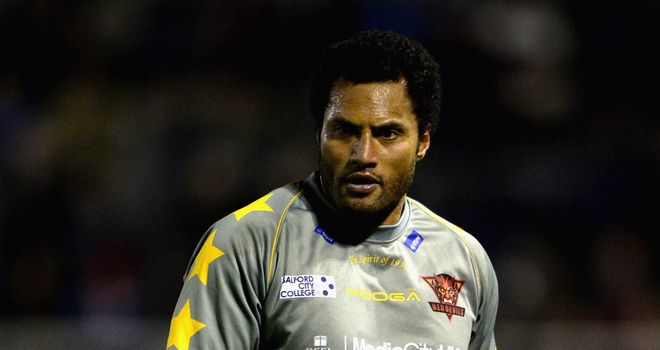 Francis Meli: try double for Salford Red Devils