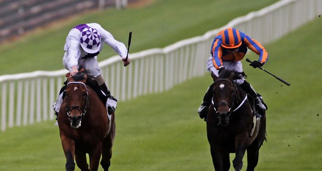 Magician (right) beats Parish Hall in a thriller at the Curragh