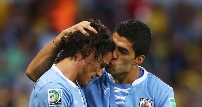 Edinson Cavani and Luis Suarez: Team-mates with Uruguay