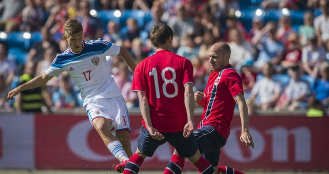 Oleg Shatov: Fires Russia into an early lead in the 1-1 draw with Norway