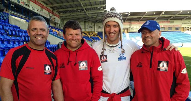Tommy Martyn, Lee Briers, Paul Sculthorpe and Mark Halsey at the Halliwell Jones Stadium