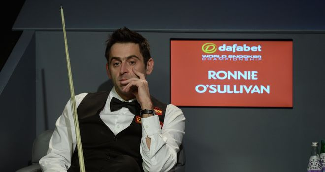 Ronnie O'Sullivan: Has tipped Mark Selby to win more Crucible titles