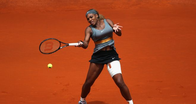 Serena Williams: Safely through to the third round of the Madrid Open