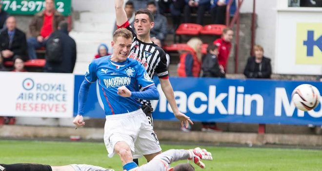 Dean Shiels: On target for Rangers against Dunfermline